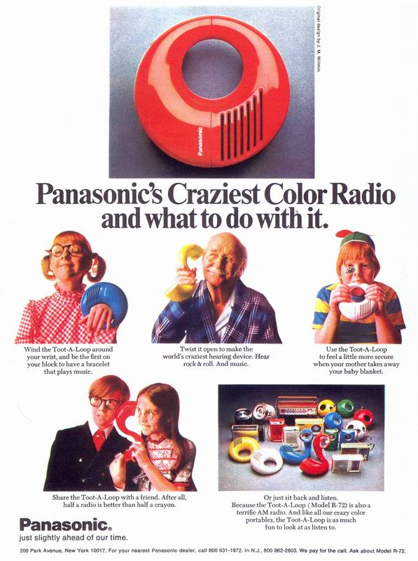 One Ad Too Good Not To Share Panasonics Toot A Loop Radio