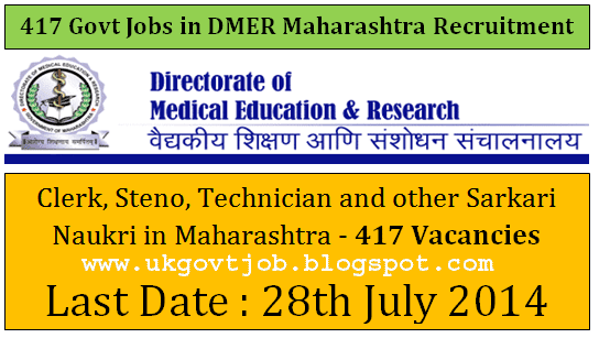 DMER Recruitment 2014