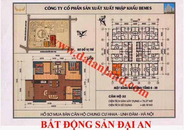 Căn hộ số 32 - Chung Cư HH4A Linh Đàm