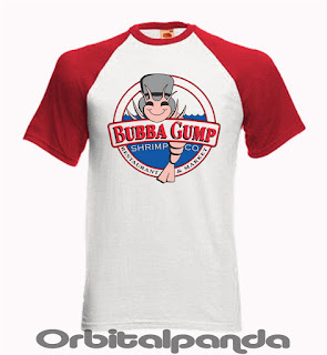 Baseball T-Shirt SS with Bubba Gump Shimp Circular Design - Tom Hanks