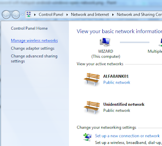 Melihat Kembali Recover Password Wifi Hotspot di Windows Manage Wireless Network