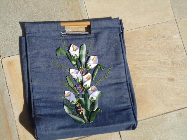 Bolsa em jeans para note book