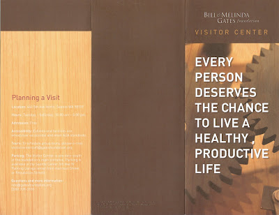 Gates Foundation Visitor Center Brochure