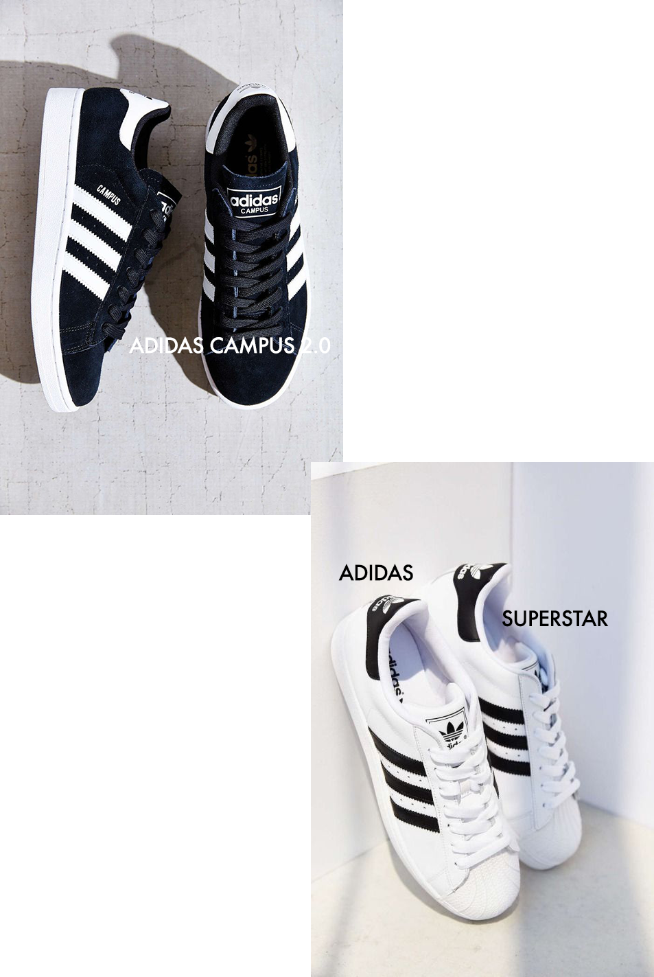 Adidas Superstar + Campus 2.0 || 90s trends sneakers || Allegory of Vanity
