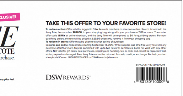 Dsw discount coupons 2019