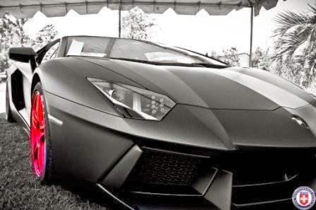 Lamborghini Aventador Black Matte