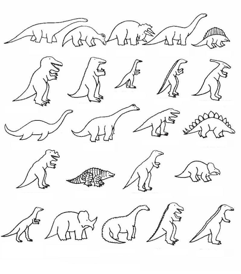Dinosaurios para colorear: Especies de dinosaurios para colorear