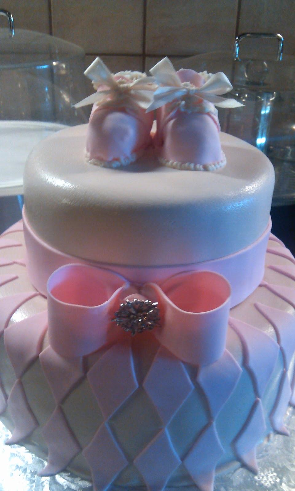 Cake Art Lawrenceville Hwy : CAFE AROMAS: Baby Bootie Fondant Cake