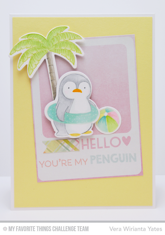 You're My Penguin Card by Vera Wirianta Yates featuring the Birdie Browne Penguins in Paradise stamp set and Die-namics