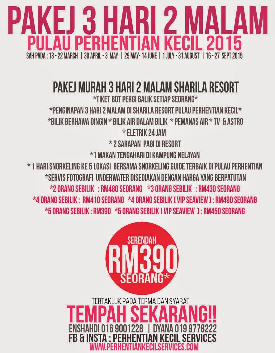 Pakej Pulau Perhentian 2015 Terengganu