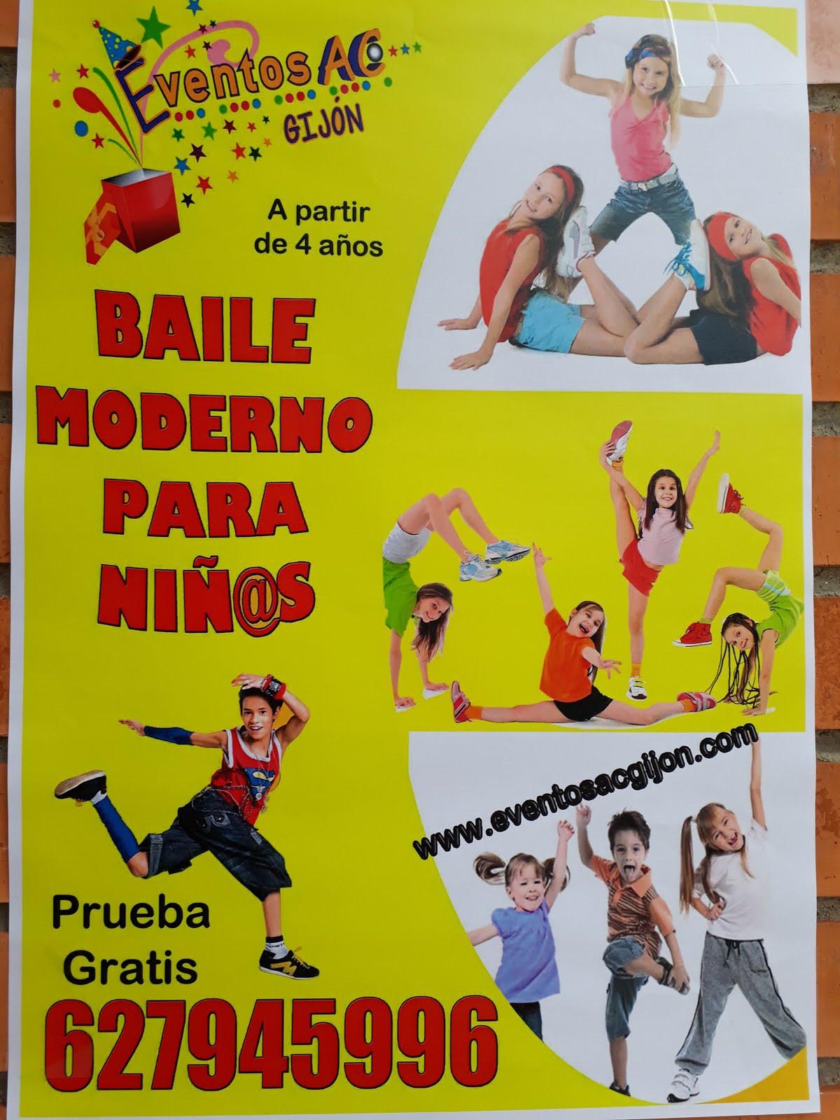 BAILE MODERNO PARA NIÑOS