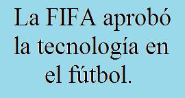FIFA, Tecnología, Fútbol, Ojo de Halcón, GoalREF