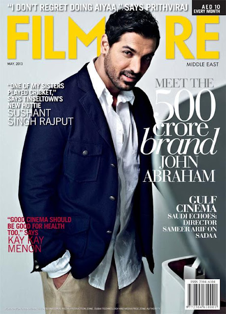 John Abraham on the cover of Filmfare Middle East