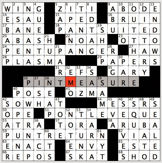 Rex Parker Does The Nyt Crossword Puzzle Fluctuation Of Musical