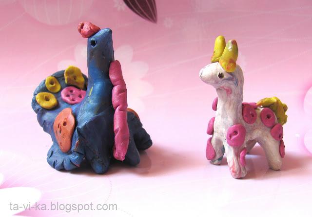 дымковские игрушки из пластилина