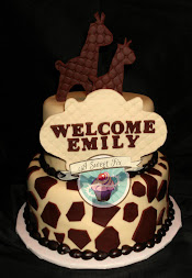 Giraffe Baby Shower Cake