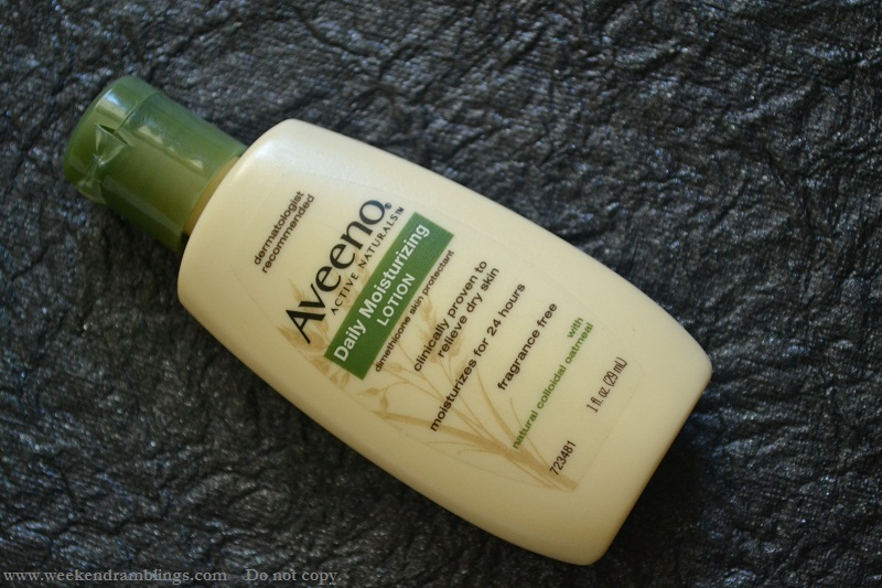 aveeno daily moisturizing lotion active naturals reviews ingredients skincare makeup beauty blog