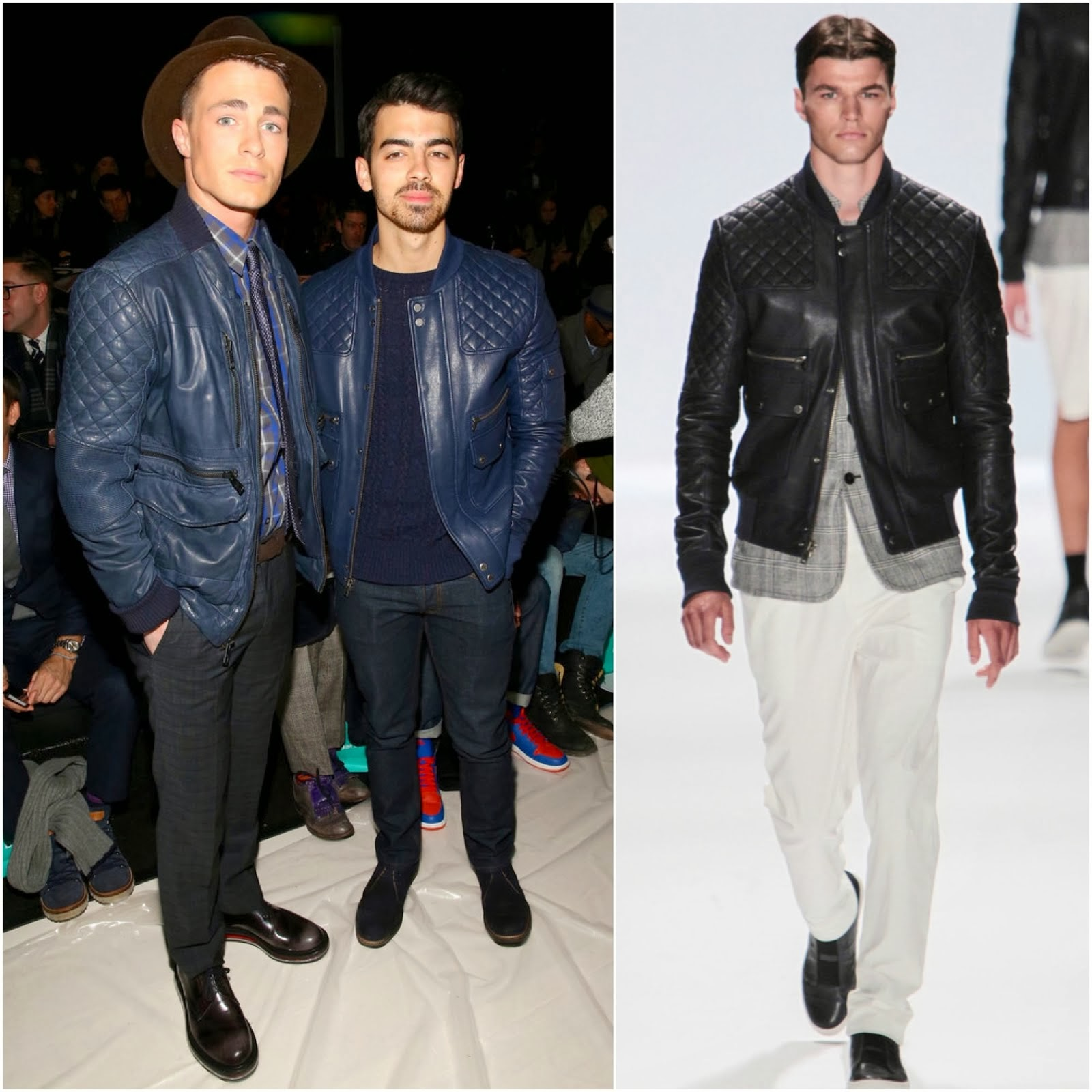 Colton Haynes and Joe Jonas in Richard Chai - New York Fashion Week FW14