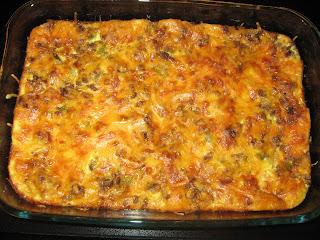 three-layer casserole
