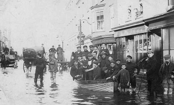 Flood in Broad Street