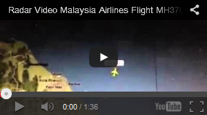 Tonton Video radar penerbangan MH370 hilang