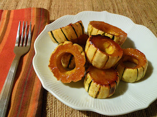 Individual Plate of Maple Glazed Delicata