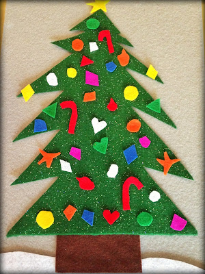 Trim Your Own Tree: Felt Christmas Tree with Ornaments!