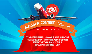 http://www.sayaiday.com/2015/12/blogger-contest-hadiah-30-ribu-airasia-big-points-RM600-cash.html?m=1