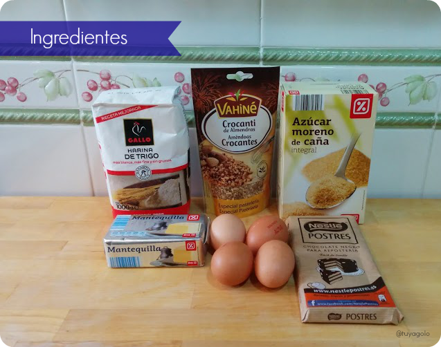 ingredientes brownie de chocolate negro receta / dark chocolate brownie recipe