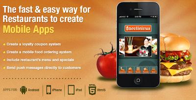 Mobile apps for restaurants, Dovetanet marketing.