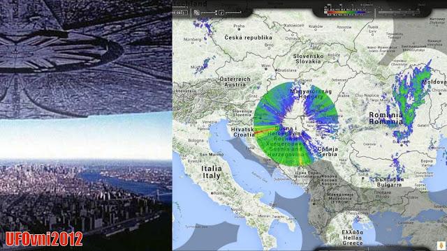 Anomalies Météo radar vues sur la Croatie deux jours avant la foudre apocalyptique de l'Europe