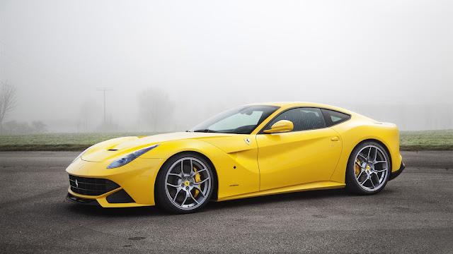 Ferrari F12 Yellow Supercar HD Wallpaper