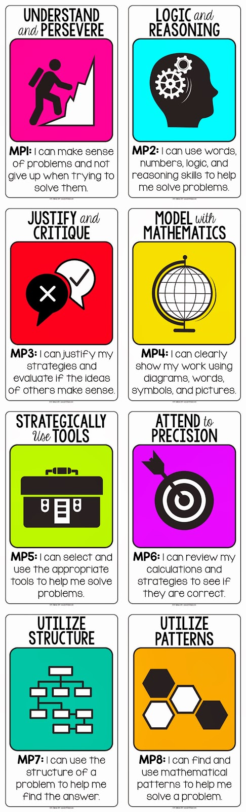 Standards for Mathematical Practices {Free Posters} • Got to Teach