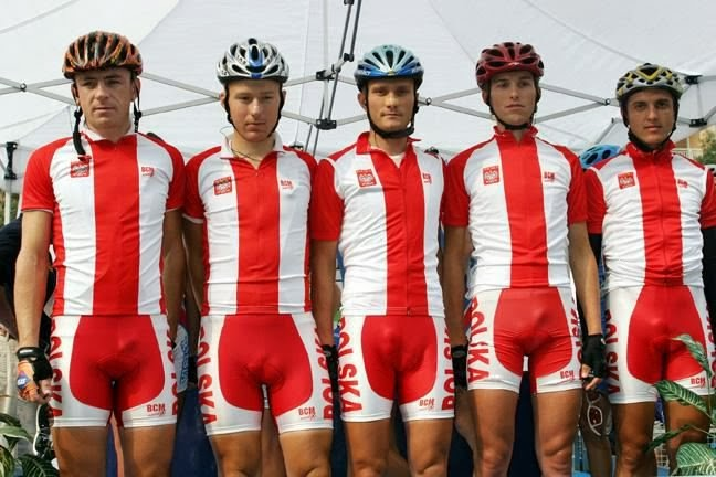 There is a reason why cycling shorts should be black...