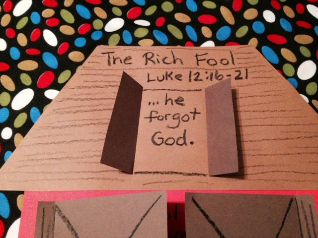 Children 39 s bible lessons lesson parable of the rich fool for The rich fool coloring page