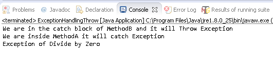 Throw Exception in Java Example