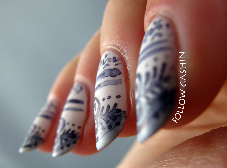 follow gashin: Wedgwood China Nail Art