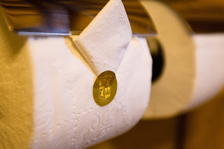 Origami papel higiénico Hotel Monasterio