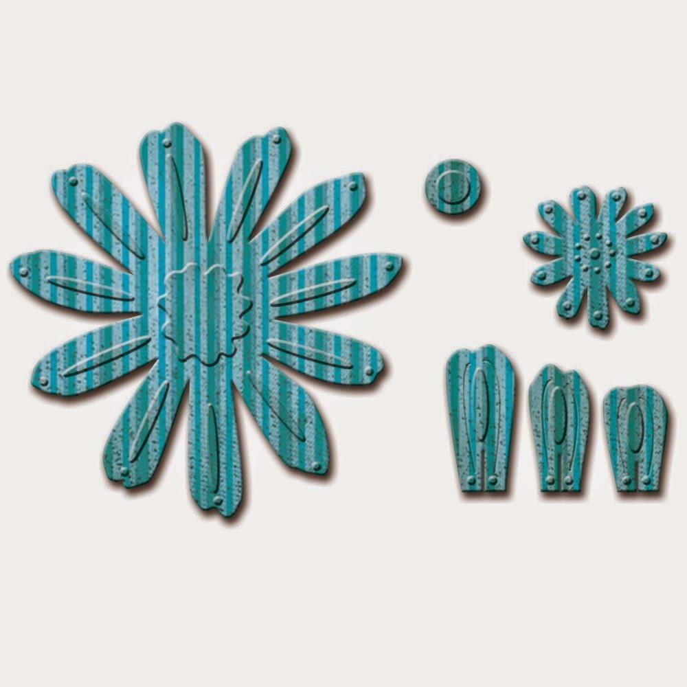 Spellbinders D-Lites - Crafty Flower 2 die