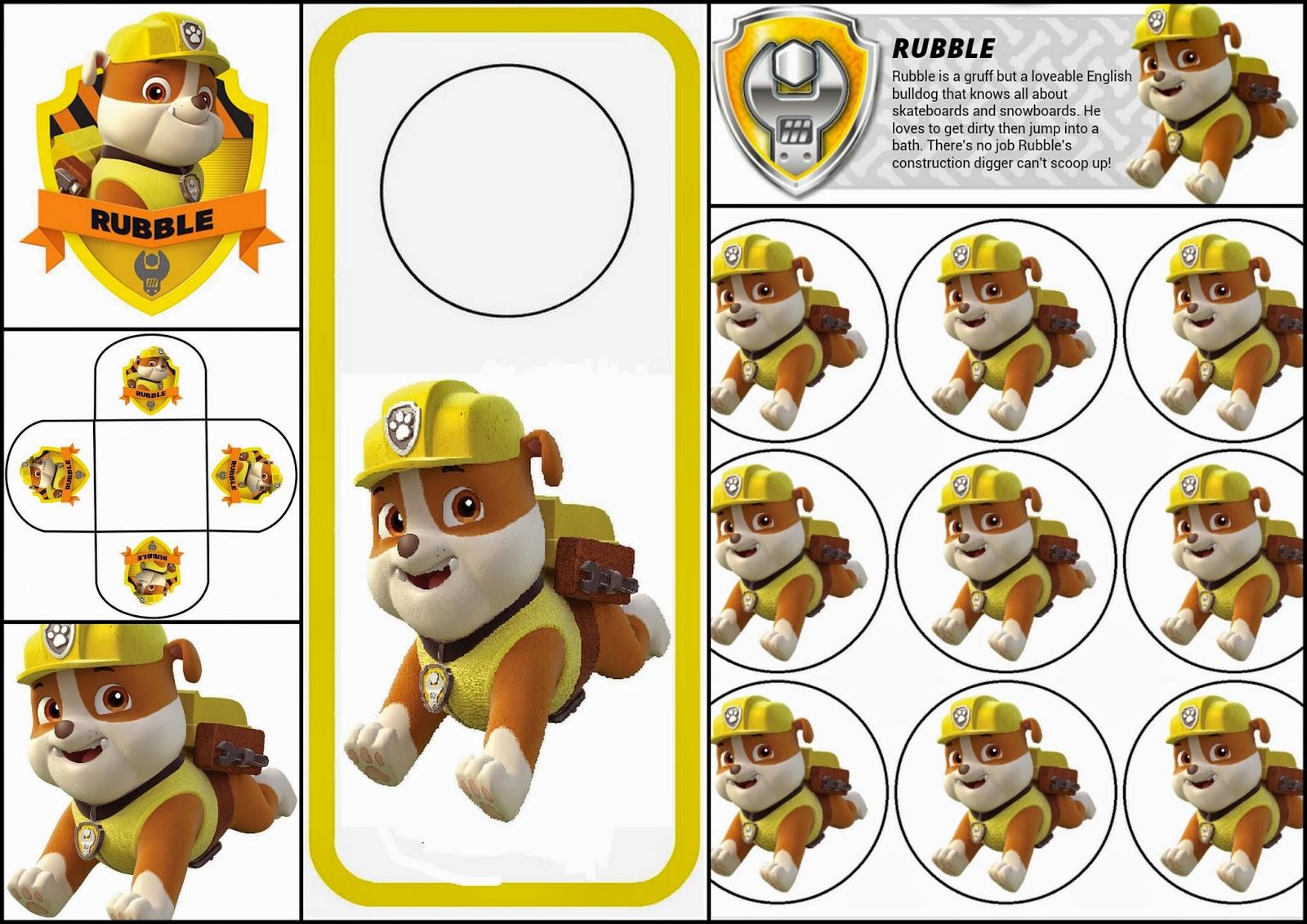 Paw Patrol: Rubble Free Printable Mini Kit. : Is it for ...