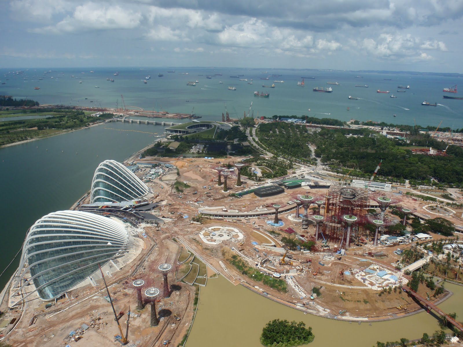 Gardens by the bay singapore construction work at july 2011 photo