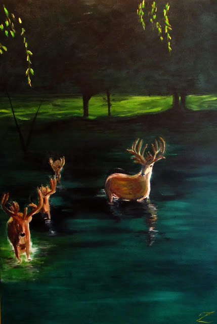 2015 Deer In Water #1