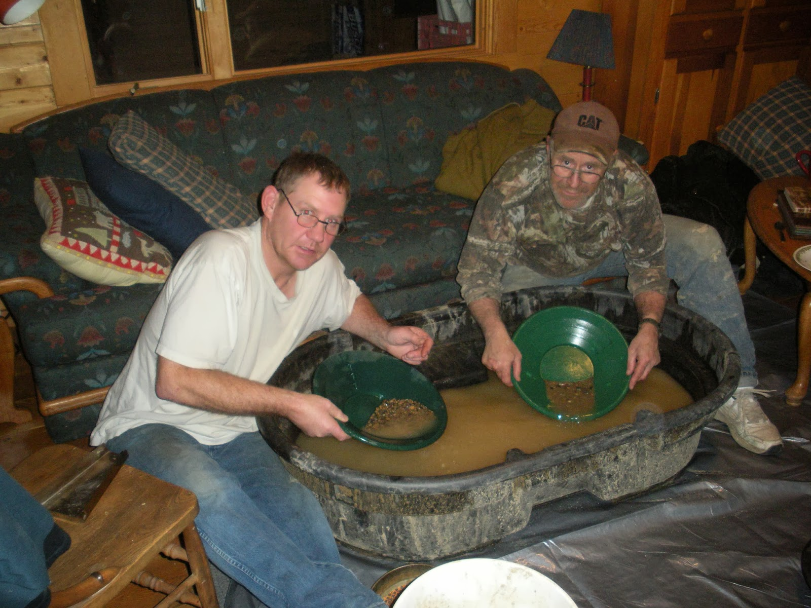 Panning gold in the living room!!!!