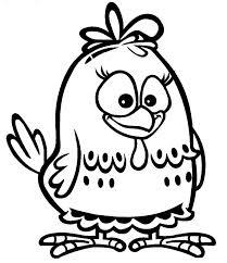 desenho para colorir galinha pintadinha