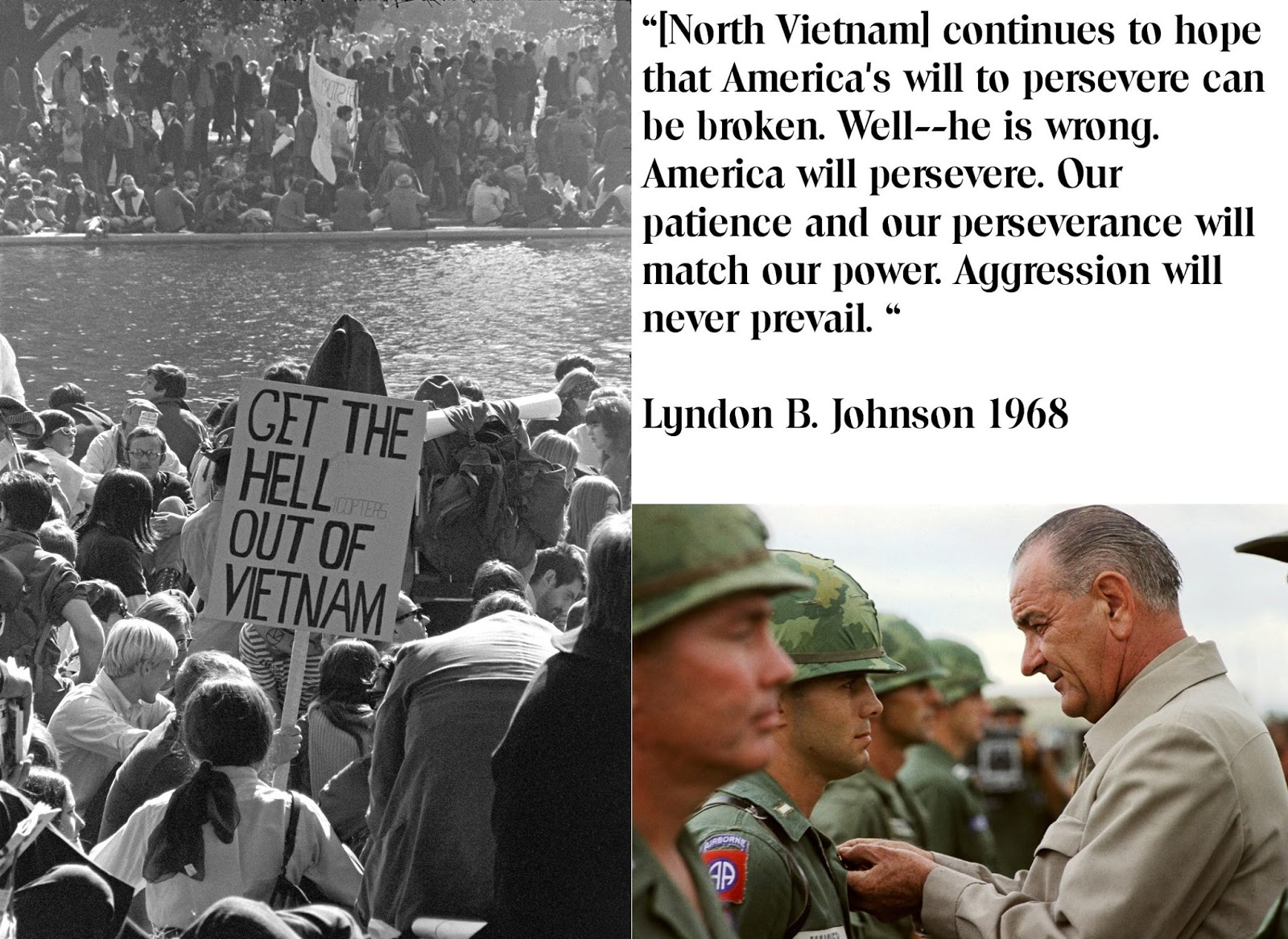 a history of the vietnam war and american president lyndon baines johnson New president lyndon b johnson inherited a difficult situation in vietnam, as the south vietnamese government was in shambles and the viet cong was making large gains in rural areas of the south although johnson billed himself as a tough anti-communist, he pledged to honor kennedy's limited troop commitments in vietnam.