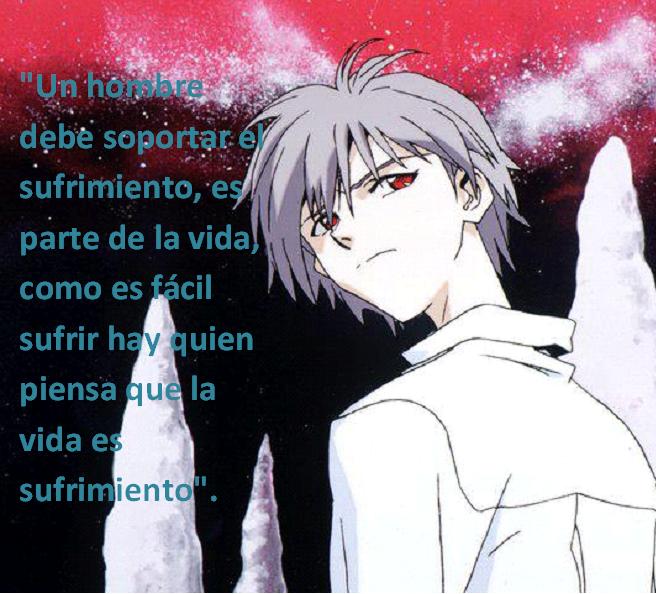 Frases con fotos del anime. Kaworu+Nagisa