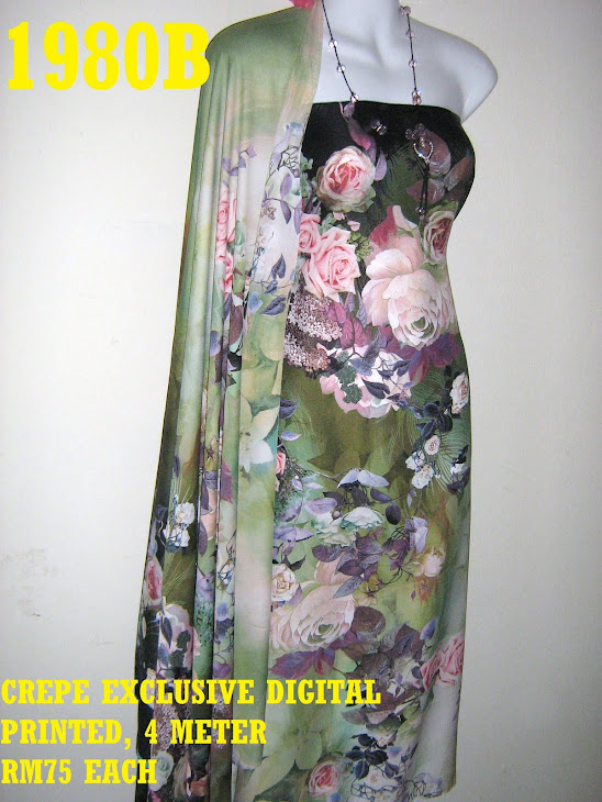 CDP 1980B: CREPE EXCLUSIVE DIGITAL PRINTED, 4 METER