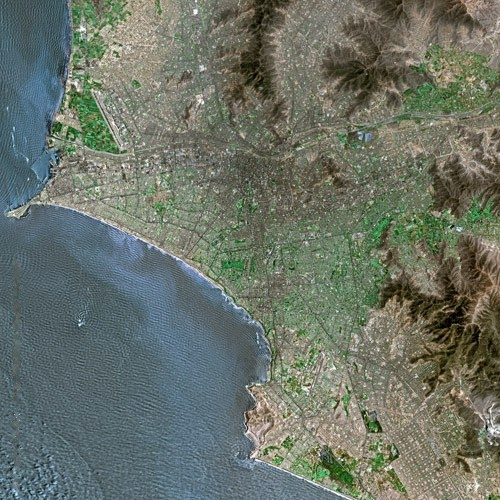 Imagen ②: Imagen satelital de Lima.