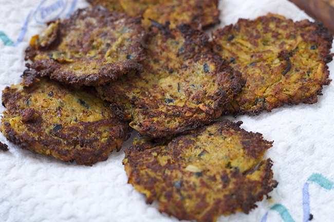 Sweet Potato Eggplant Pancakes. Recipe via www.fashionrolla.com