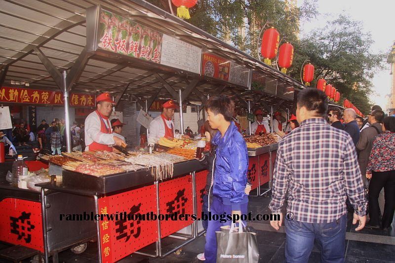 Open air food stall or stands, Donghuamen Snack Night Market